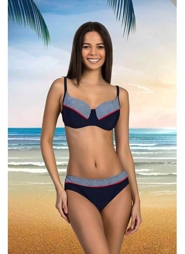 Nbb Büyük Beden Bikini 51198-2993 Lacivert